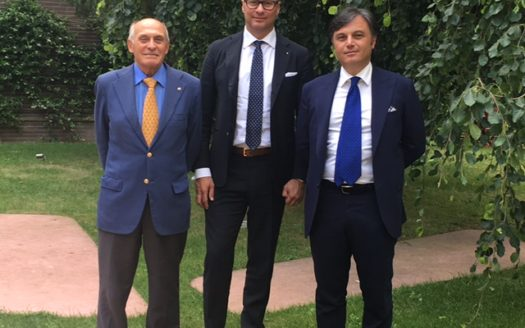 Dr. Aldo Romanini (Segretario Generale Assimpresa), Dr. Antonio Fortuna (Presidente Assimpresa) e Dr. Francesco Tonini (Managing Director Tonini Finance)
